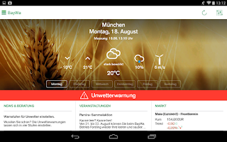 Screenshot of BayWa Agri-Check
