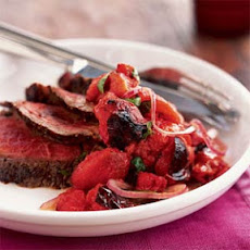 Grilled Steak with Charred Tomato Salsa