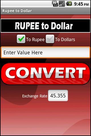 Rupee to Dollar Lite