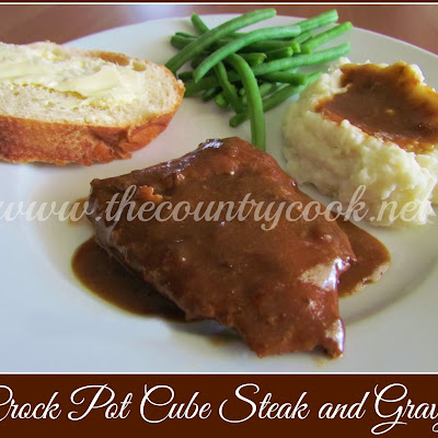 Crock Pot Cube Steak with Gravy