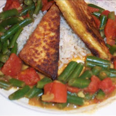 Curried Tofu and Green Beans