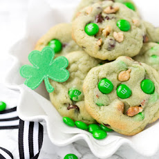 Pistachio and Chocolate Leprechaun Cookies
