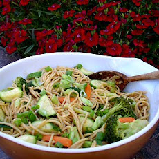 Pasta and Vegetables with Peanut Sauce