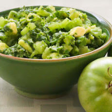 Salsa Verde with Green Tomatoes, Avocadoes, and Cilantro