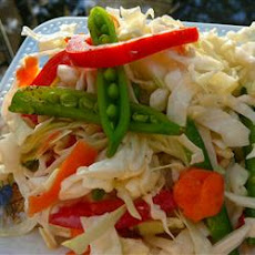 Snow Pea and Napa Cabbage Slaw