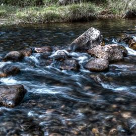 Stream. by Divya Sharan - Nature Up Close Water ( water, stream, hdr, serene, kudremukh )