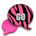 GO SMS - Light Pink Zebra icon