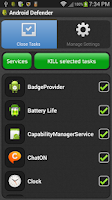 Screenshot of Android Defender