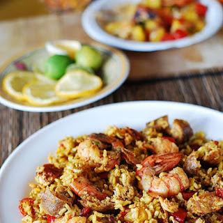 Easy Paella With Chicken, Shrimp, And Sausage