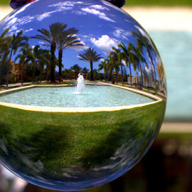 Fountain ll by Elfie Back - Artistic Objects Glass ( glass art, orb, fountain, glass, sphere,  )