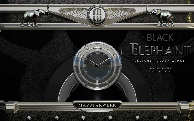 Clock Widget Black Elephant Screenshot 3