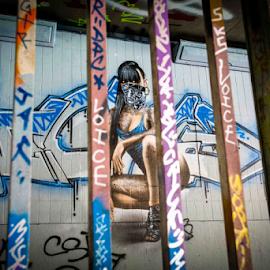 Behind Bars by Michael Payne - City,  Street & Park  Street Scenes ( street life, london, graffiti, street art, Urban, City, Lifestyle )