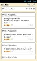 Screenshot of Mensa Weimar