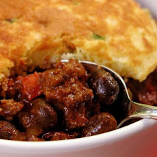 Beef and Black Bean Chili With Green Onion Corn Cakes