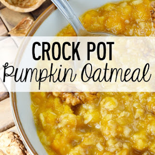 Crock Pot Pumpkin Oatmeal