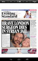 Screenshot of London Evening Standard