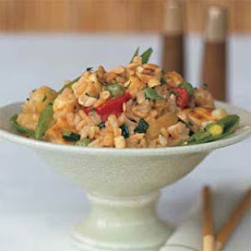 Fried Rice with Pineapple and Tofu