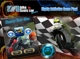 Screenshot of Superbike Vs Super Sonic Car