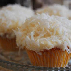 Coconut Cupcakes with White Chocolate Frosting