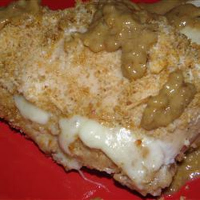 Apple Filled Chicken in Pecan Creme Sauce