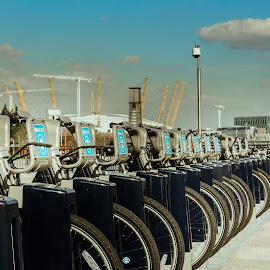 Bicycle by Tavi Ionescu - Transportation Bicycles ( o2, london, arena, o2 arena, barclays, united kingdom, bicycle )