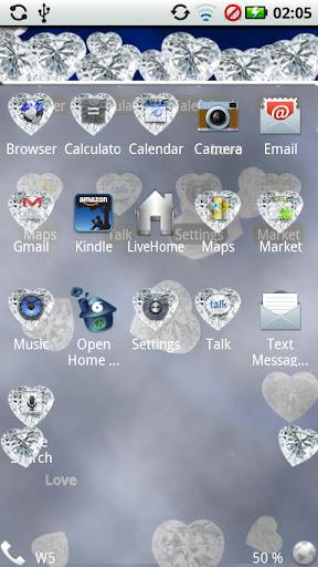 玩個人化App|Diamond Hearts Gem Theme免費|APP試玩