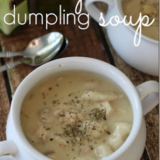 Slow Cooker {Creamy} Chicken Dumpling Soup