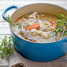 Chicken-and-Vegetable Soup with Herb Dumplings