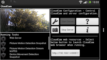 Screenshot of Cloud Spy Cam Demo