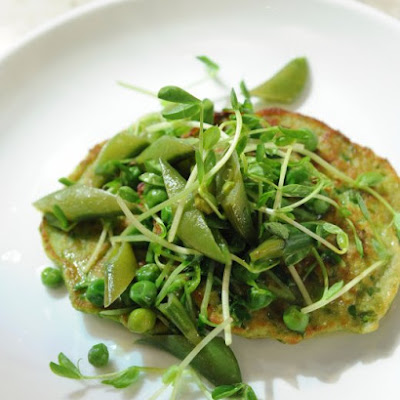 Savory Pea Pancakes with Pea Ragout
