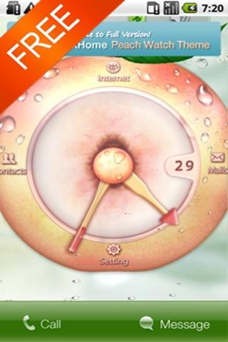 Peach Watch Free MXHome Theme
