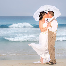 Marty & Karla by Chevy Morgan - Wedding Bride & Groom ( wedding photography, beach, beach wedding )