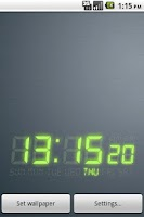 Screenshot of DIGI-CLOCK LiveWallpaper Trial
