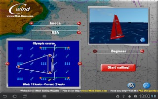 Screenshot of cWind Sailing Simulator