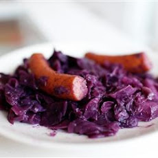 Polish Sausage with Red Cabbage