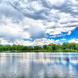Prospect Lake by Timothy Miller - City,  Street & Park  City Parks ( clouds, hdr, waterscape, reflections, cloudscape, lake, city park )