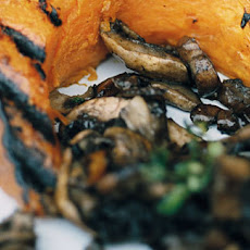 Pumpkin Wedges With Mixed, Wild Mushrooms And Sage