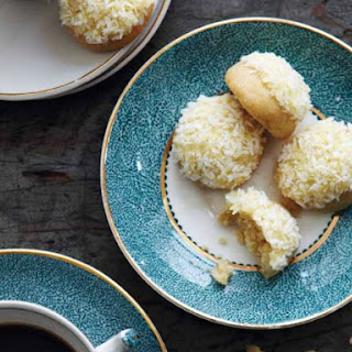 Orange Butter Drops with Shredded Coconut