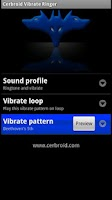 Screenshot of Cerbroid Vibrate Ringer