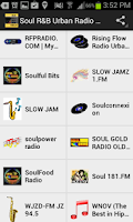 Screenshot of Soul R&B Urban Radio Stations