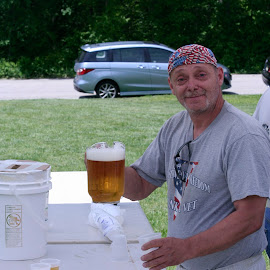 Have a Beer!! by Don Webb - Food & Drink Alcohol & Drinks ( holiday, beer, veteran, men, picnic )