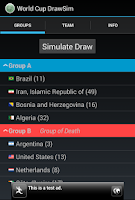 Screenshot of World Cup DrawSim