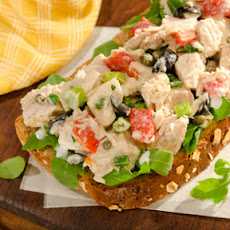 Open-Faced Mediterranean Tuna Sandwich