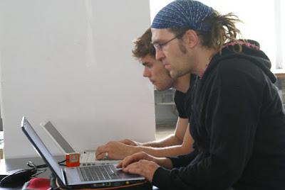 Danilo und Marius auf dem Bibcamp
