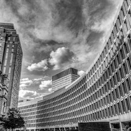 Windows by Ron Phillips - Buildings & Architecture Architectural Detail ( boston, black and white, windows, architecture, city )