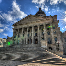 Today's Castle by Adam Johnson - Buildings & Architecture Public & Historical ( state capitol, hdr, topeka, capitol building, kansas )