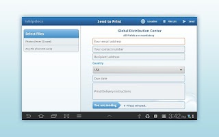 Screenshot of ishipdocs print anywhere