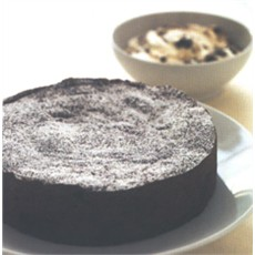Fallen Chocolate Souffle with Armagnac Prunes