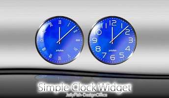 Screenshot of シンプルなアナログ時計ウィジェット【ブルー】