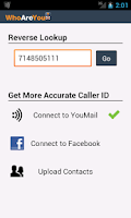 Screenshot of WhoAreYou Caller ID + Blocker